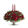 Teleflora's Mercury Glass Bowl Bouquet Centerpiece premium