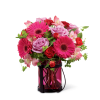 The FTD® Pink Exuberance™ Bouquet deluxe
