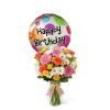 The FTD® Birthday Cheer™ Bouquet with Balloon deluxe