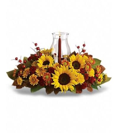Thanksgiving Sunflower Centerpiece