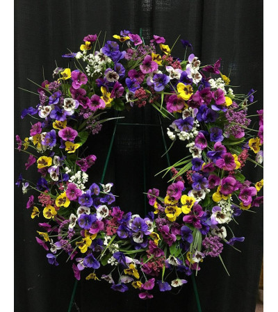 Purple Colors Wreath