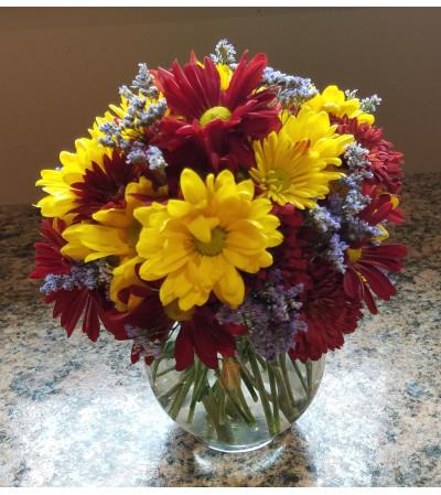 Autumn Daisy Bowl