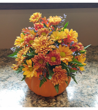Pumpkin Full of Posies