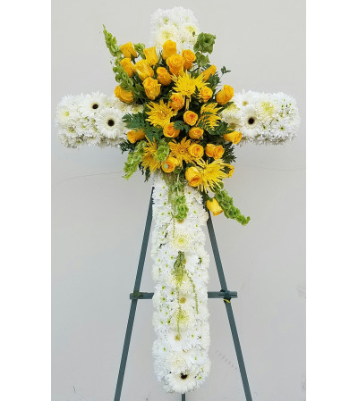 Yellow Tribute Cross
