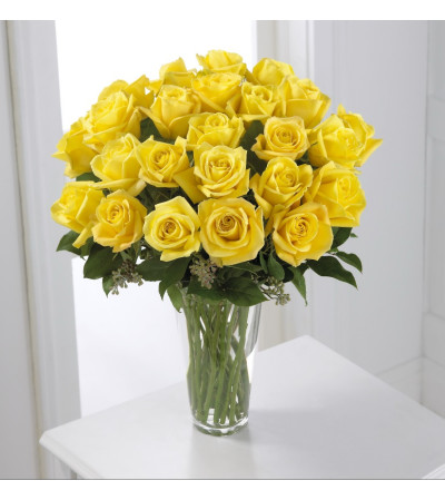 FTD 24 yellow rose bouquet