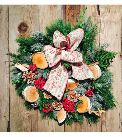 Birch Holiday Wreath