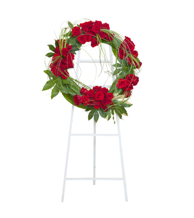 Enduring Strength Royal Rose Wreath