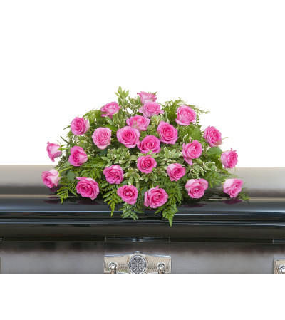 Pink Rose Casket Spray