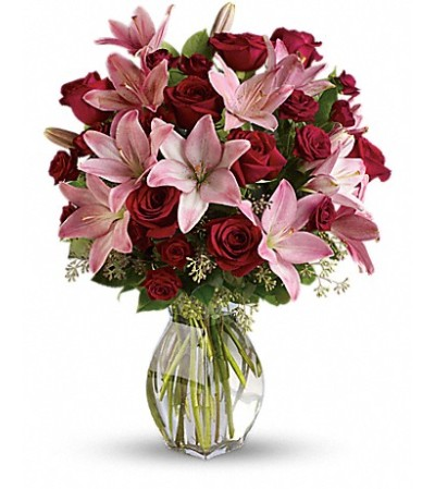Rose and Stargazer Lily Assortment