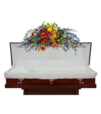 Treasured Celebrations Full Casket Spray