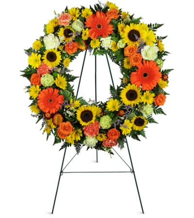 Heavenly Dawn Sunflower Wreath™