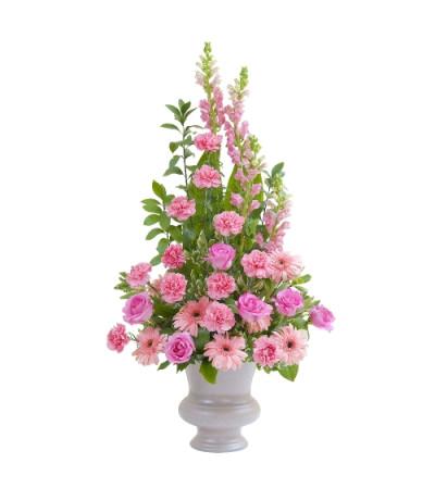 Peaceful Pink Large Urn