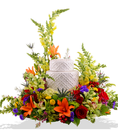 Beaming Blooms Cremation Urn Arrangements