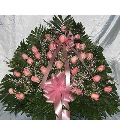 Floor Basket - Pink Roses  GF-10