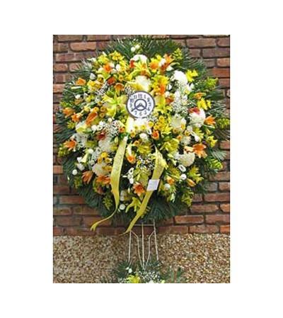 Fall Wreath with Clock  GF-WR1