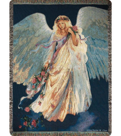 MESSENGER OF LOVE ANGEL MEMORIAL THROW