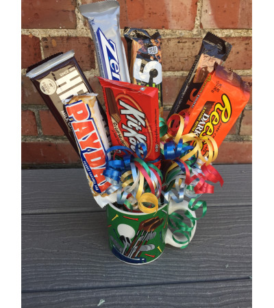 Golf Coffee Mug Candy Bouquet