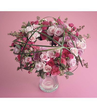 Pink and Magenta Wreath  SF59-11