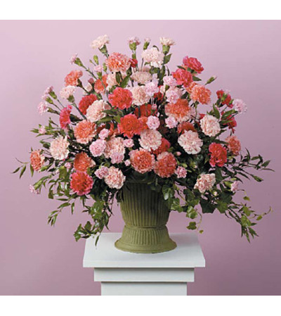 Pink and Peach Carnation Urn SF60-21