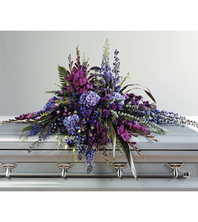 Purple Tone Casket Spray  SF41-11