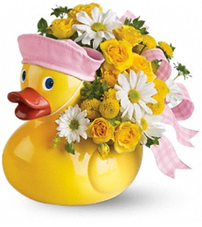 Teleflora's Ducky Delight Bouquet - Pink