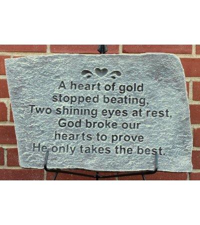 Garden Stone- A Heart of Gold