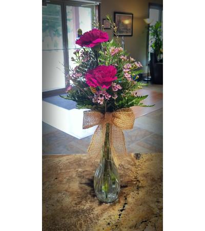 Carnation Bud Vase