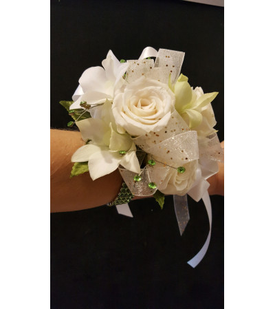 Premium All White Corsage