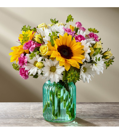 The FTD® Sunlit Meadows™ Bouquet by Better Homes and Gardens®