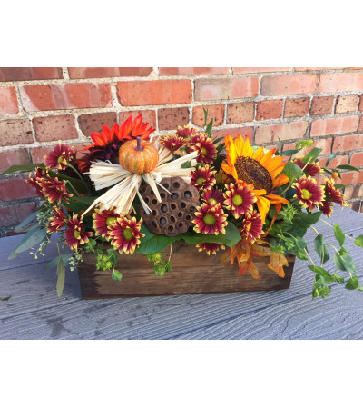 Fall Centerpiece-Rustic Woods