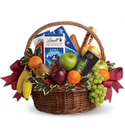 Fruits and Sweets Christmas Basket