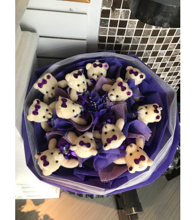 C Teddy Bears Bouquet