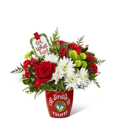 FTD I'll Jingle to That Bouquet by Hallmark