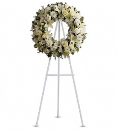Serenity Wreath - by Jennifer's Flowers
