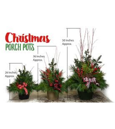 Evergreen Porch Pots