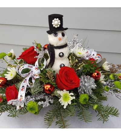 Joyful Snowman Centerpiece