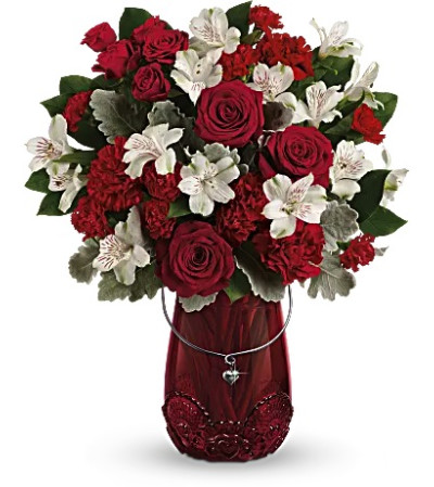 Red Haute Bouquet by Teleflora