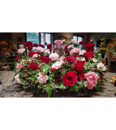 Bountiful Rose Urn Wreath