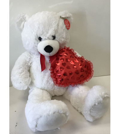 Heart white Teddy Bear