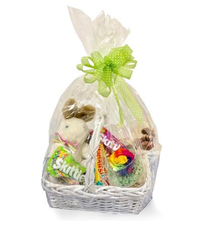 Bunny Hop Forever Rose Easter Basket