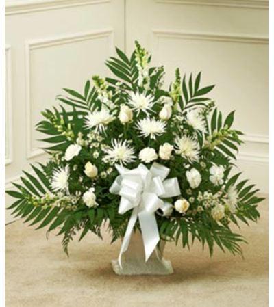 white sympathy floor basket