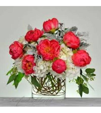Peonies and Twigs