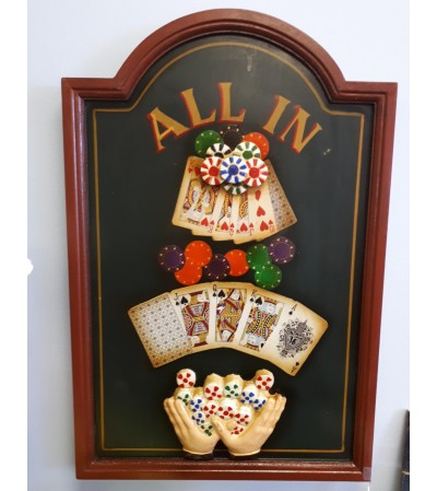 """All In"" Poker Room Sign"