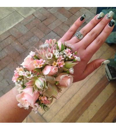 pink rose wristlet