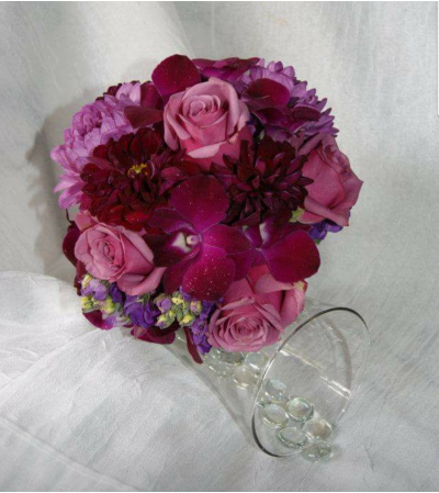 Purple Passion Wedding Bouquet