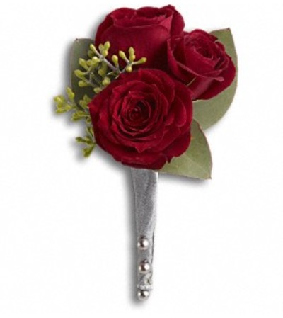 The King's Red Rose Boutonniere