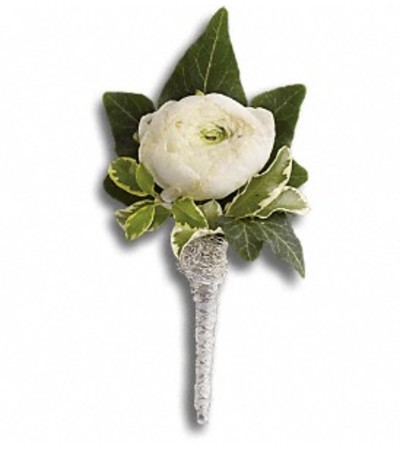 Ranunculus White Boutonniere