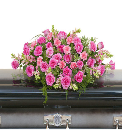 Peaceful Pink Casket Spray DW