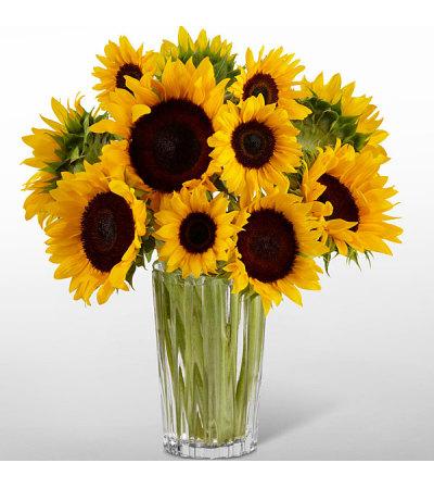 Golden Sunflowers Bouquet