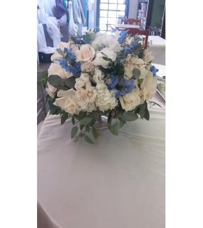 Baby boy vase arrangement